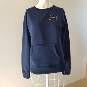 Under armour blue pullover crew neck sweater S